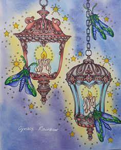#hannakarlzon #magicaldawn #ochtengloren @hannakarlzon #night #adultcoloringbook #adultcoloring #prismacolor #butterfly
