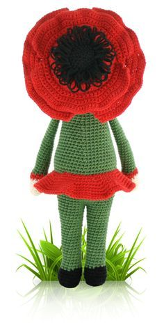 Poppy Paola - crochet amigurumi pattern by Zabbez / Bas den Braver Crochet Animal Amigurumi, Crochet Animal Patterns, Stuffed Animal Patterns, Amigurumi Doll, Amigurumi Patterns, Doll Patterns, Crochet Poppy, Cute Crochet, Crochet Crafts