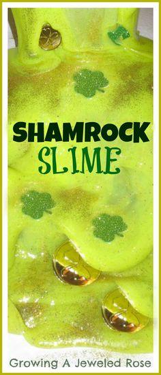 Shamrock slime!  Ooey Gooey FUN!