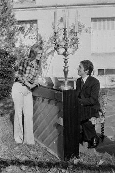 Dalida and Alain Delon