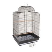 An attractive and ornate San Luis small bird cage brings easy maintenance and style to your home. This black bird cage has a good sized front door, an easy access feeding station and a pull out tray for quick and simple cleaning.