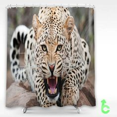 Cheap Cheetah Amazing Shower Curtain