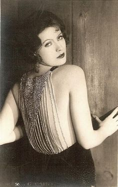 Greta Garbo, 1930s. Check out that dress, we're smitten!