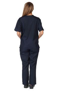 Navy Blue unisex scrub set #navybluescrubs #unisexscrubs #bluescrubs #cheapscrubs Discount Scrubs, Cheap Scrubs, Navy Blue Scrubs, Scrub Sets, Dorm Ideas, Normcore, Unisex, Tops, Women