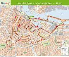 Fietsroute Amsterdam 28 km