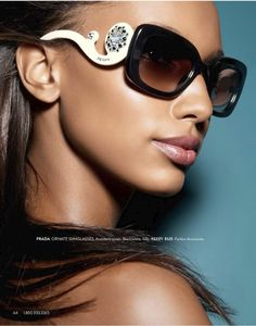 prada+54mm+Polarized+Sunglasses