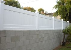 1000 Images About Block Wall Fence On Pinterest Block