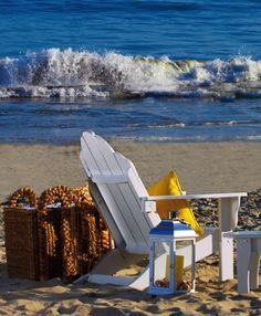 Days at Inn at Laguna Beach are best spent relaxing by the lapping surf. Laguna Beach, Ocean Beach, Beach Day, Porches, Costa, I Love The Beach, Beach Chairs, Plein Air, Coastal Living