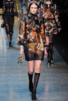 Dolce & Gabbana Fall 2012 Ready-to-Wear Fashion Show - Andie Arthur