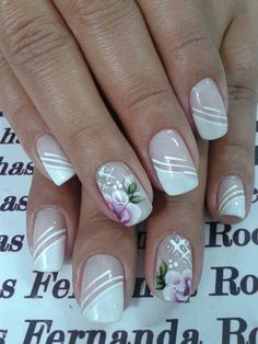 Amazing Tips For The Best Summer Nails – NaiLovely Fancy Nails, Trendy Nails, Cute Nails, Nail Polish Designs, Nail Art Designs, Nails Design, French Nail Art, Nails Only, Flower Nail Art