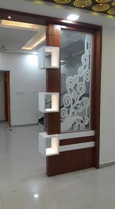 90 incredibly genius apartment decorating hacks for renters 27 Room Partition Wall, Living Room Partition Design, Pooja Room Door Design, Room Partition Designs, Living Room Tv Unit Designs, Ceiling Design Living Room, Door Design Interior, Tv Wall Design, Kitchen Room Design