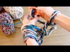 ▶ Arm Knitting - The Fast & Easy Way to Knit a Scarf! - YouTube - The casting on in this video makes more sense to me (I think).
