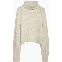 Apiece Apart Carrine Cropped Turtleneck (€195) ❤ liked on Polyvore featuring tops, sweaters, shirts, long-sleeve shirt, long sleeve shirts, cream turtleneck sweater, turtleneck shirt and turtleneck sweater