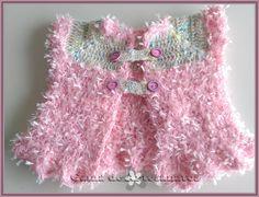 Jaquetinha de crochet
