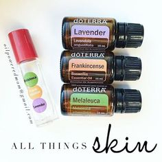 My favorite combo for all things skin! 5 drops each, in a 10 ml roller, topped with FCO. Lavender and Frankincense are amazingly gentle and nourishing, and Melaleuca helps keep skin clean and clear. We use this for blemishes, mosquito or bug bits, cuts and scrapes, any skin irritation, and more - works awesome! Tag 3 friends who would like this!