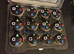 Cakie Sweets playstation cupcakes. Check out our other creations at www.CakieSweets.weebly.com