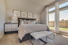 New Model Home Now Open in Austin's Teravista - 2,420 Sq. Ft. - Master Bedroom - #PerryHomes #PerryHomesTexas #Teravista #GeorgetownISD #GeorgetownTX #Austin #AustinHomes #TexasHomes #trustedbuilder #homedecor #homedesign #moderndecor #modernhomedesign #landscaping #lakesidecommunity #lakeside #waterfront #lakefront #mastersuite #masterbedroom #wallofwindows