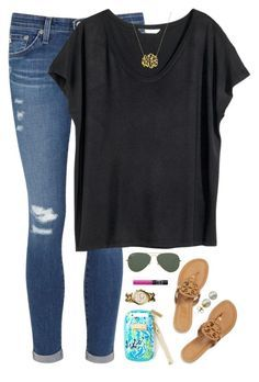 A fashion look from November 2015 featuring H&M tops, AG Adriano Goldschmied jeans et Tory Burch sandals. Browse and shop related looks. Teen Fashion, Fashion Outfits, Womens Fashion, Fashion Trends, Fashion Fashion, Fashion Ideas, Mode Outfits, Casual Outfits, School Outfits
