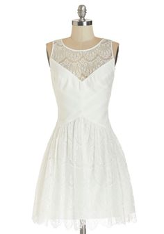 Tread Sprightly Dress. Sometimes, liveliness spans beyond your attitude and right into your style. #white #prom #modcloth