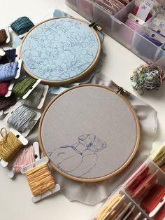 To see finished embroidery - click on the link Hand Embroidery Art, Link