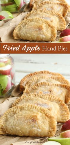These Southern Fried Apple Hand Pies are easy to make using either homemade pie crust or biscuit dough. Make them AHEAD of time and freeze. Simply thaw overnight in the fridge before you fry up fresh in the morning. Fall Dessert Recipes, Apple Desserts, Thanksgiving Desserts, Fall Desserts, Apple Recipes, Delicious Desserts, Dessert Ideas, Pumpkin Recipes, Easy Recipes