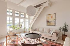 Great space..love the stairs..idea for downstairs second staircase