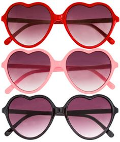heart shaped glasses ;)