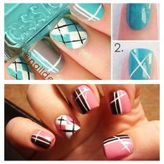 Inspiration on top. My nails on the bottom....love them. @Sasha Blan