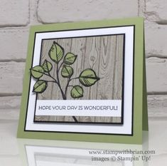 Remarkable You and Cottage Greetings for CYCI (Stamp with Brian) Leaf Cards, Birthday Cards For Boys, Stampin Up Catalog, Cool Cards, Flower Cards, Stampin Up Cards, I Card, Cardmaking, Card Ideas