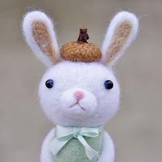 Cute Needle felting felted wool animal bunny (Via @noristudio_o)