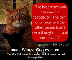 the art of negotiation http:www/wingstosuccess.com