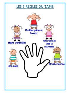 5 règles du tapis (5 règles du tapis.pdf) - Fichier PDF French Classroom, Classroom Rules, Kindergarten Classroom, French Teaching Resources, Teaching French, French Language Lessons, French Lessons, French Education, Kids Education