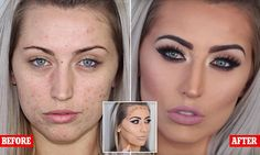 Make up artist uses cheap make up to totally cover her client's acne