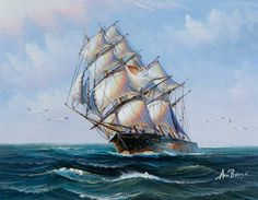 pictures of square rigged sailing ships | BBC - Your Paintings - Square-Rigged Sailing Ship