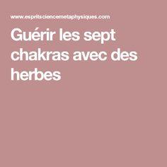 Guérir les sept chakras avec des herbes Qi Gong, Acupuncture, Le Mal A Dit, Sept Chakras, Ayurveda, Reiki, Massage, Beauty Hacks, Cancer
