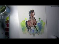 Horse Watercolor Speed Painting - YouTube