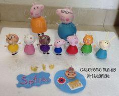 PEPPA PIG FAMILIA Y AMIGOS DE PICNIC PORCELANA FRIA