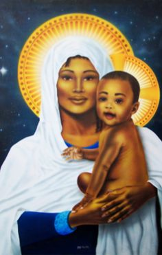 Mother Mary and baby Jesus