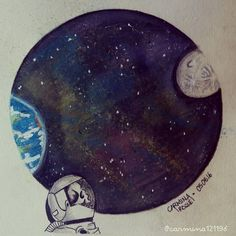 I always dream to go into the moon even though some people say there's nothing special about it. I don't care. I still dream it. Death is not an excuse. May 8th, Some People Say, Astronaut, Painting Art, Don't Care, Fanart, Death, Skull, Moon
