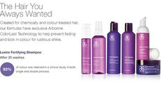 Created for colour treated hair, Pure Vibrance contains Arbonne's exclusive ColourLast Technology