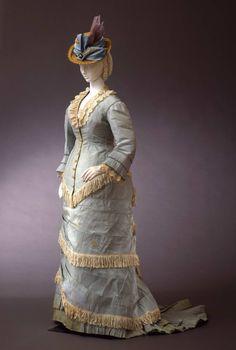 """fripperiesandfobs: """"Day dress ca. 1877-79 From the Galleria del Costume di Palazzo Pitti via Europeana Fashion """""""