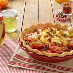 Delicious Tomato Pie Recipe make crustless for less calories  Calculated without crust 1/6 th pie 110 calories
