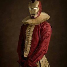 How would superheroes have looked in the 16th century renaissance period! French photographer Sacha Goldberger has created a quirky photo series that perfectly expresses the timeless quality of some of our favorite superheroes and villains – by re-imagining them as 16th-century Flemish portrait models.  Ironman