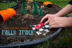 An easy DIY for the car-lover in your house! Build a rally track in YOUR back yard! via www.mysmallpotatoes.com