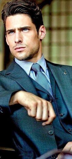 Menswear, men's fashion and style Sharp Dressed Man, Well Dressed Men, Gentleman Mode, Gentleman Style, Dapper Gentleman, Mode Masculine, Fashion Moda, Mens Fashion, Style Fashion