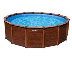 The Best Time to Buy an Above-Ground Pool: Intex Wood-Grain Pool