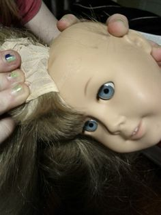 creepy, but good to know. How to Re-Wig American Girl Dolls