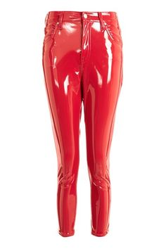 Moto Red Vinyl Jamie Jeans Topshop Rouge And Latex