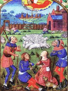 Illuminated Manuscripts - Telling the Shepherds of Jesus' Birth