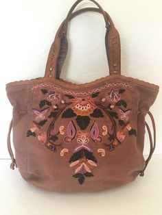 Lucky Brand Bag Embroidered Bohemian Designer Fashion Hip  #LuckyBrand #Hobo